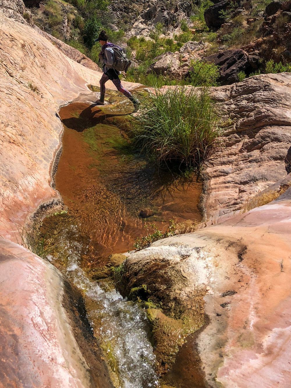 Hiking up Stone Canyon