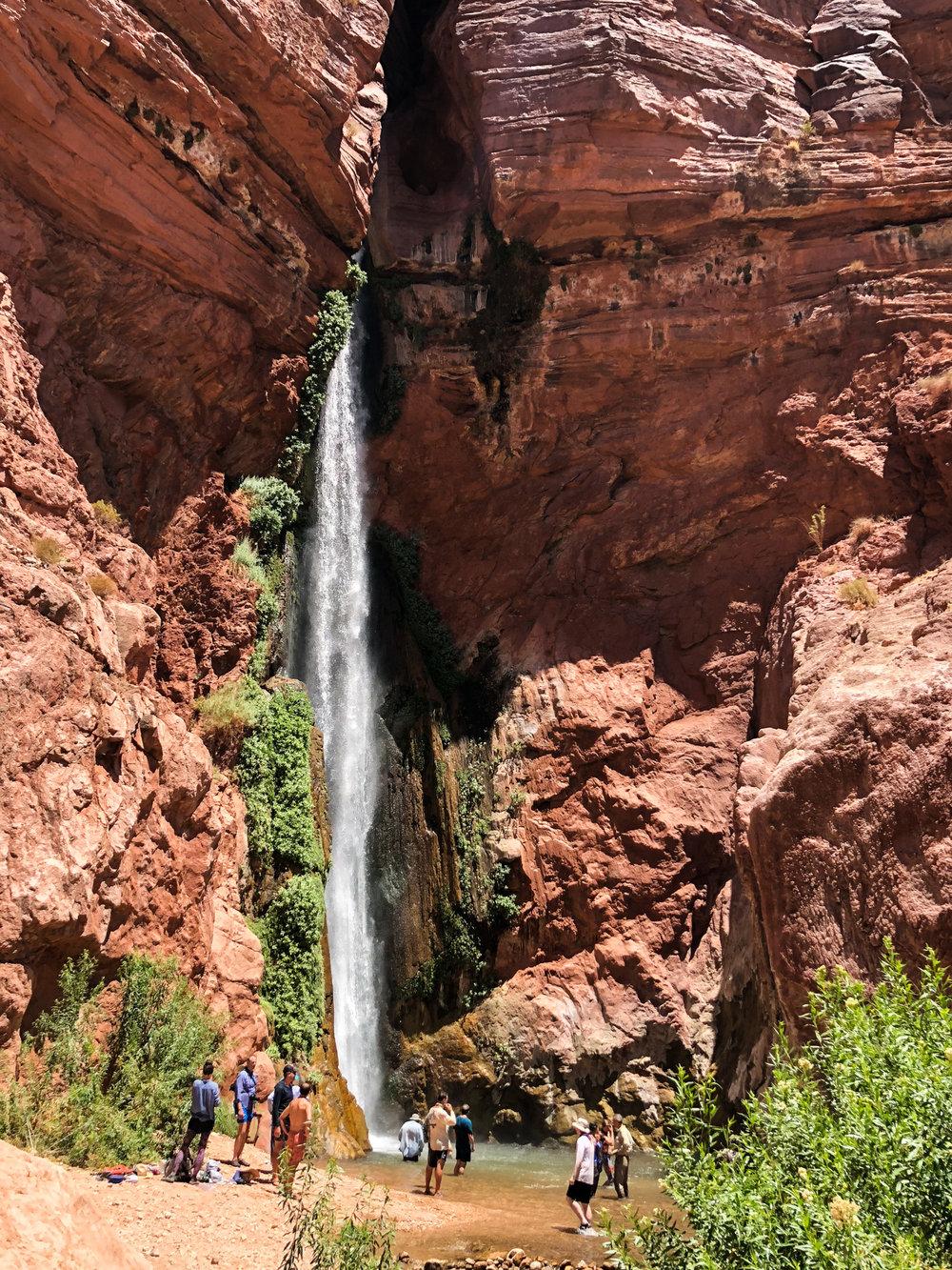 The waterfall at Deer Creek