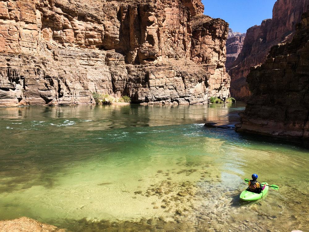 Kayak at Havasu Creek