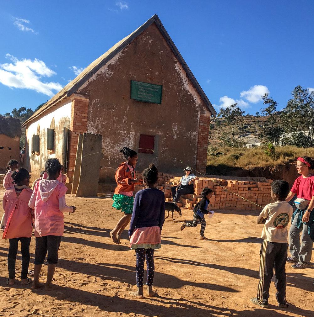 Taking time to play at Ambohibato