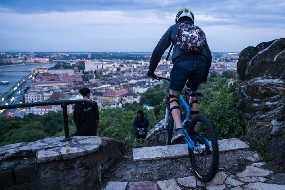Urban mountain biking in Budapest