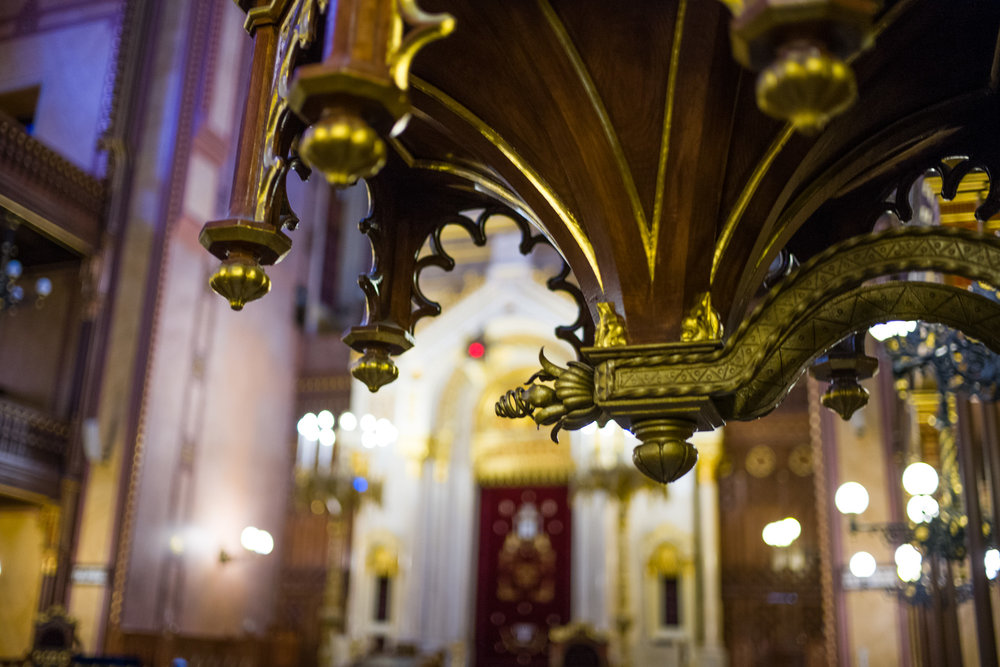 Fine Craftsmanship inside of Dohány Street Synagogue