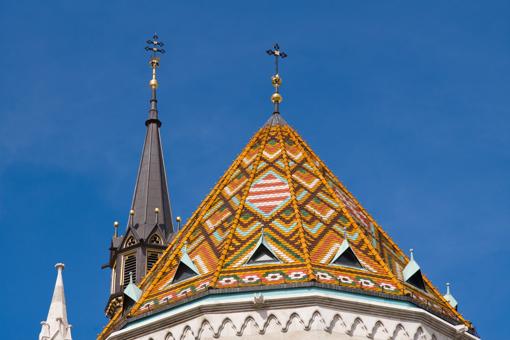 Roof tiles on Matthias Church