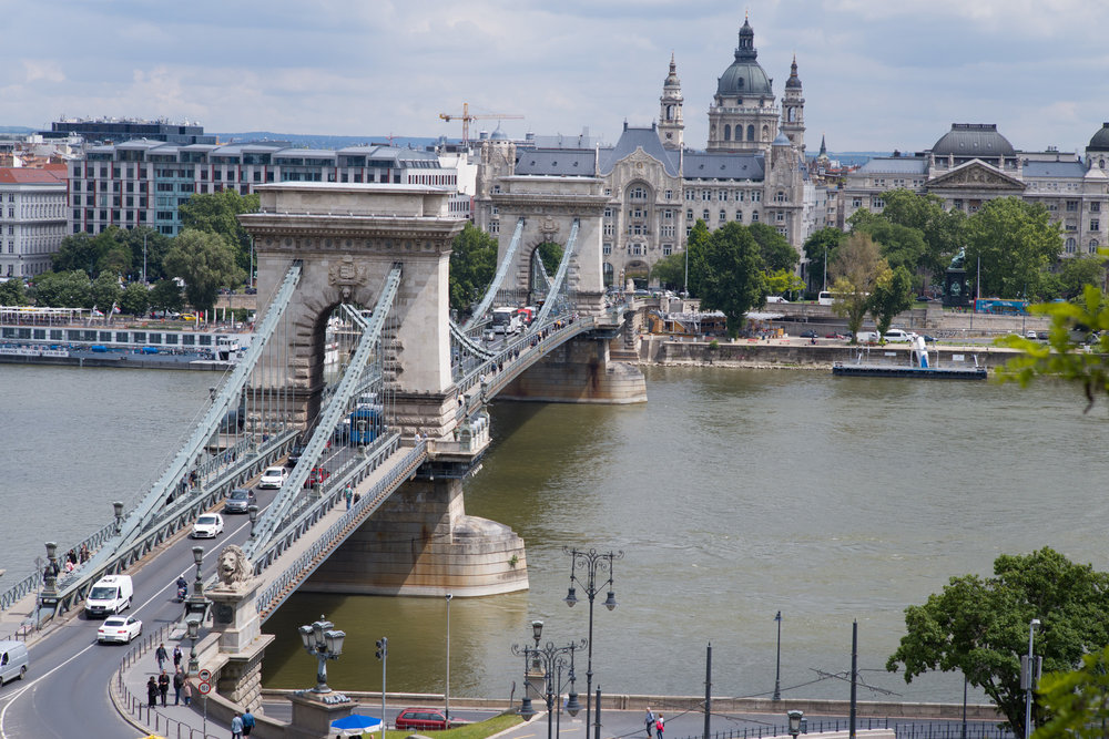 The Chain Bridge over the Danube in Budapest