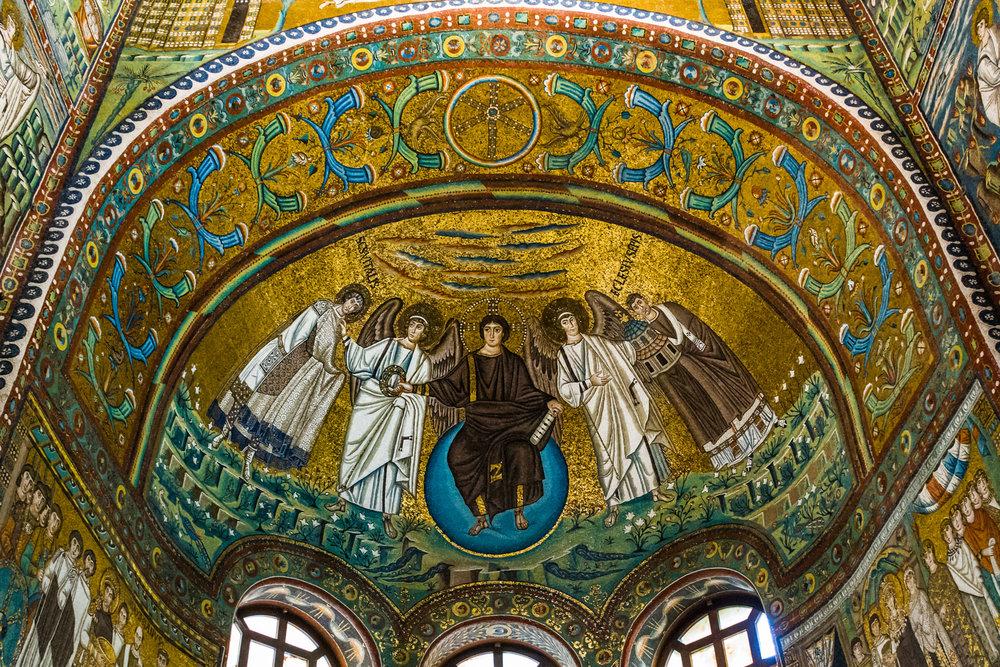 Mosaics in the Basilica di San Vitale
