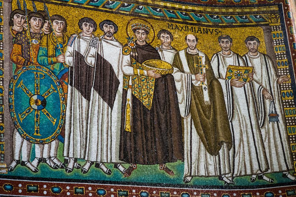 Justinian Mosaic in San Vitale