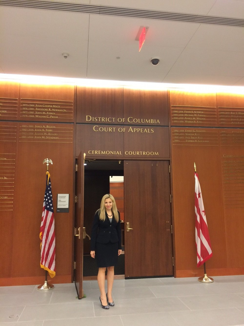 October 2017: Jillian A. Centanni, Esq. is pleased to announce that she has been admitted to the Bar for the District of Columbia.  Her swearing in ceremony was Oct. 2, 2017 in Washington, D.C. at the District of Columbia Court of Appeals' Ceremonial Courtroom. -