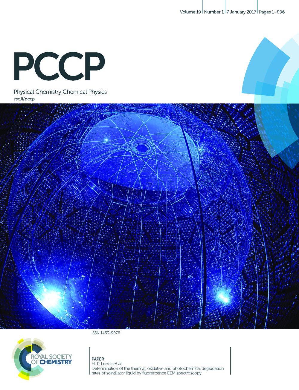 2017 - PCCP - cover - Degradation rates of scintillator liquid - Andrews et al - Copy.jpg