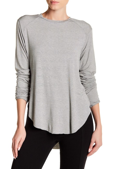 Melrose and Market Long Sleeve Hi-Lo Tee
