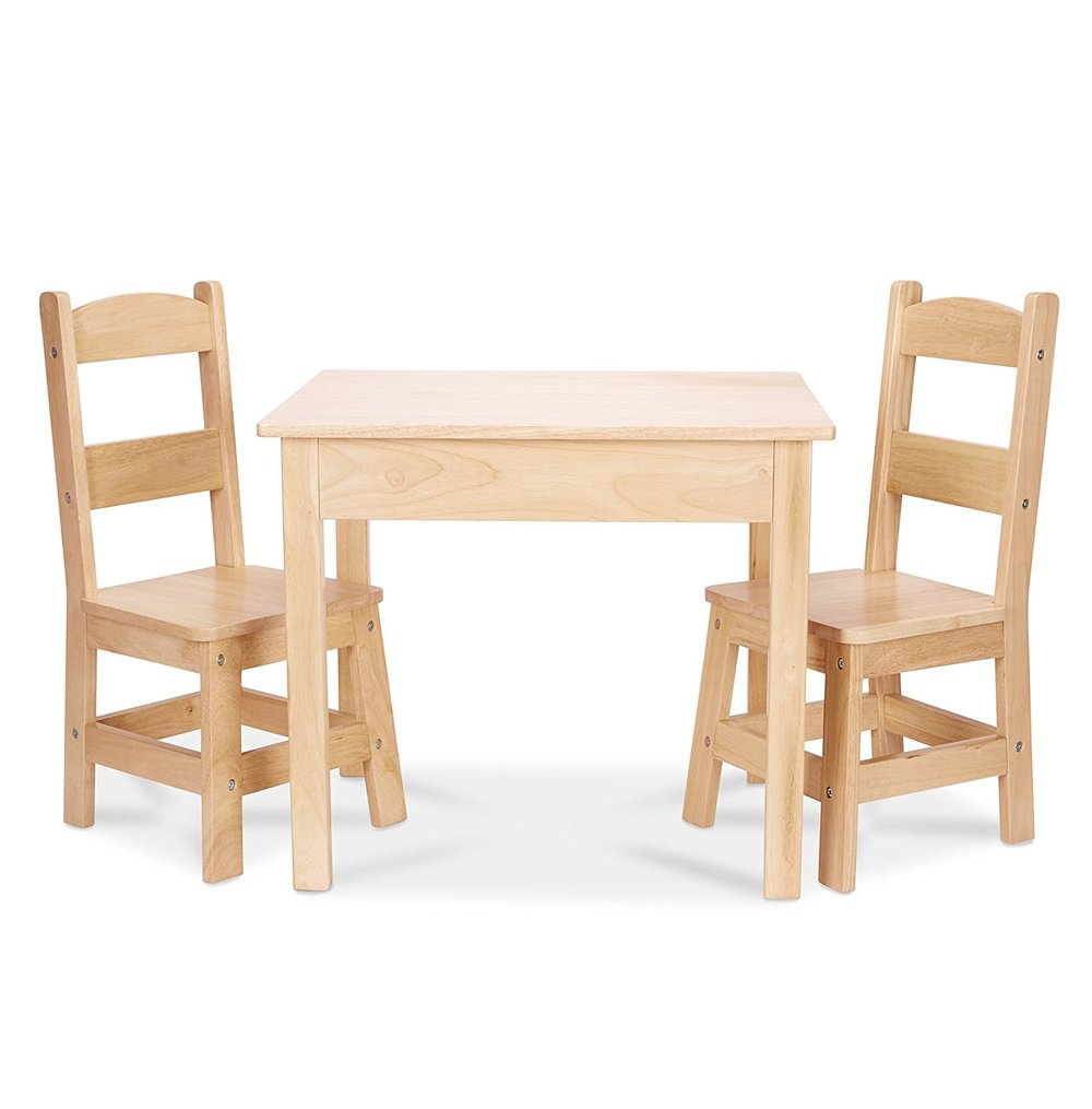 Melissa & Doug Solid Wood Table and Chairs set