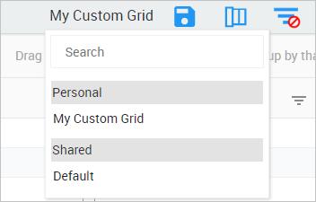 Choose a saved grid