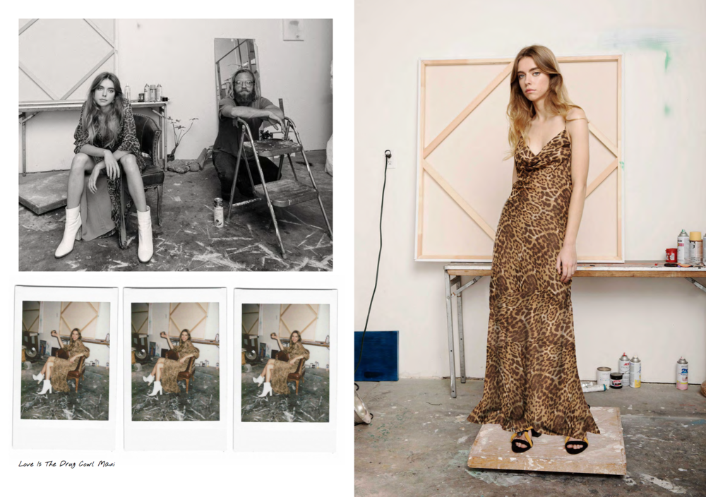 The Vetiver Collection Love Is The Drug Leopard Maxi Slip Dress