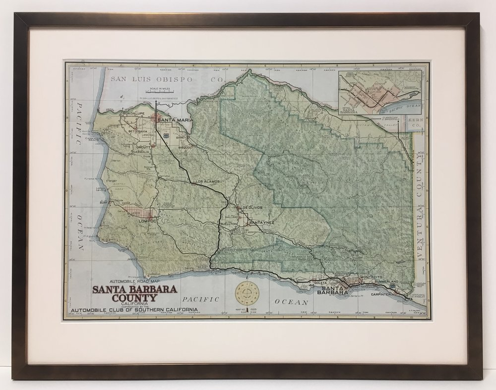 Map of Santa Barbara County
