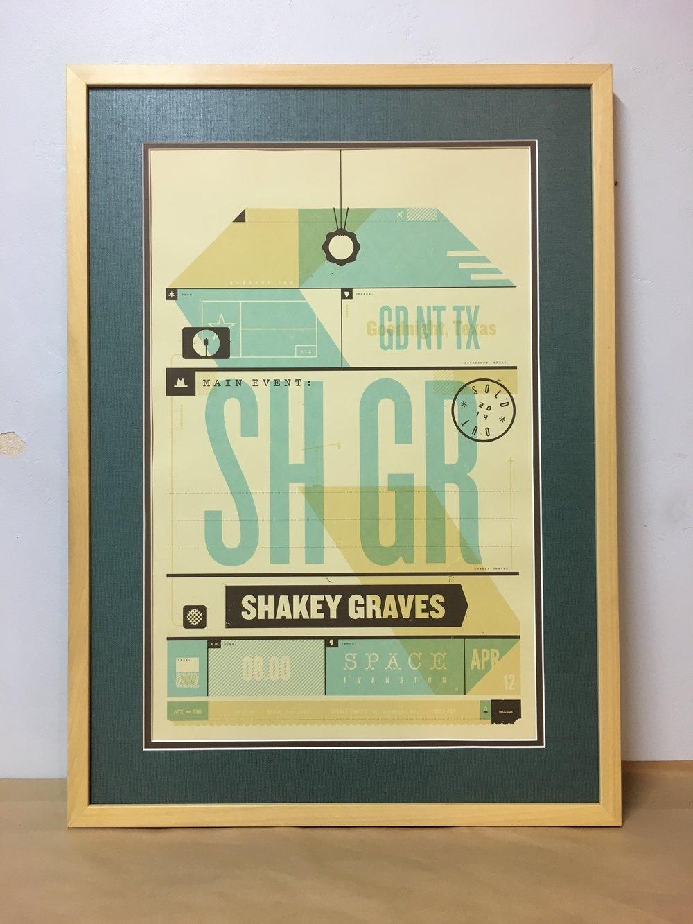 Shakey Graves Concert Poster