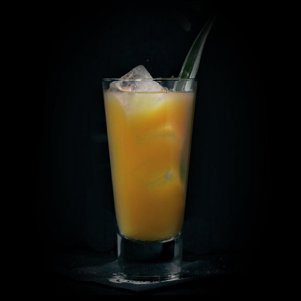 COPA DEL SILENCIO  INGREDIENTS  - 2 oz. El Silencio Espadin - .5 oz. Agave Nectar - .5 oz. Fresh Lime Juice - 2 oz. Fresh Pineapple Juice  METHOD  Shake & Strain Grated Nutmeg & Pineapple Leaf- Collins Glass
