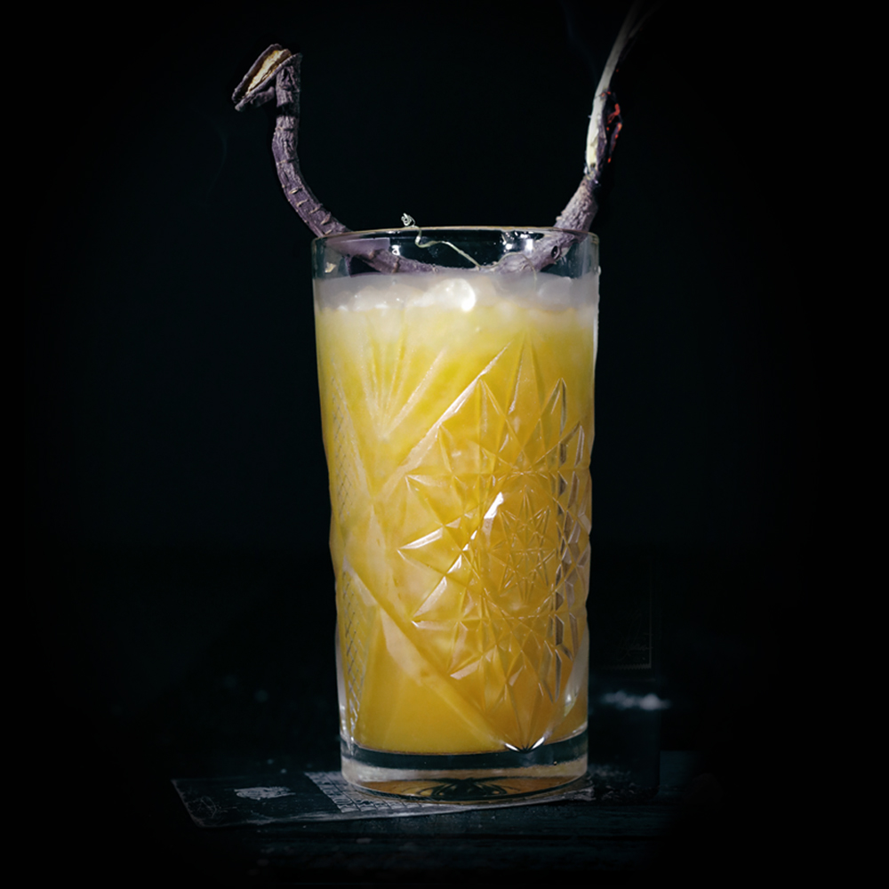 DARK RABBIT  INGREDIENTS  - 2 oz. El Silencio Espadin - .5 oz. Agave Nectar - .5 oz. Fresh Lime Juice - 1 oz. Celery Juice - 1 oz. Carrot Juice  METHOD  Shake & Pour Pilsner Glass(Crushed Ice) Lime Wheel w/Black Lava Salt