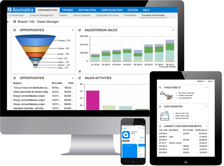 Acumatica on on multiple platforms