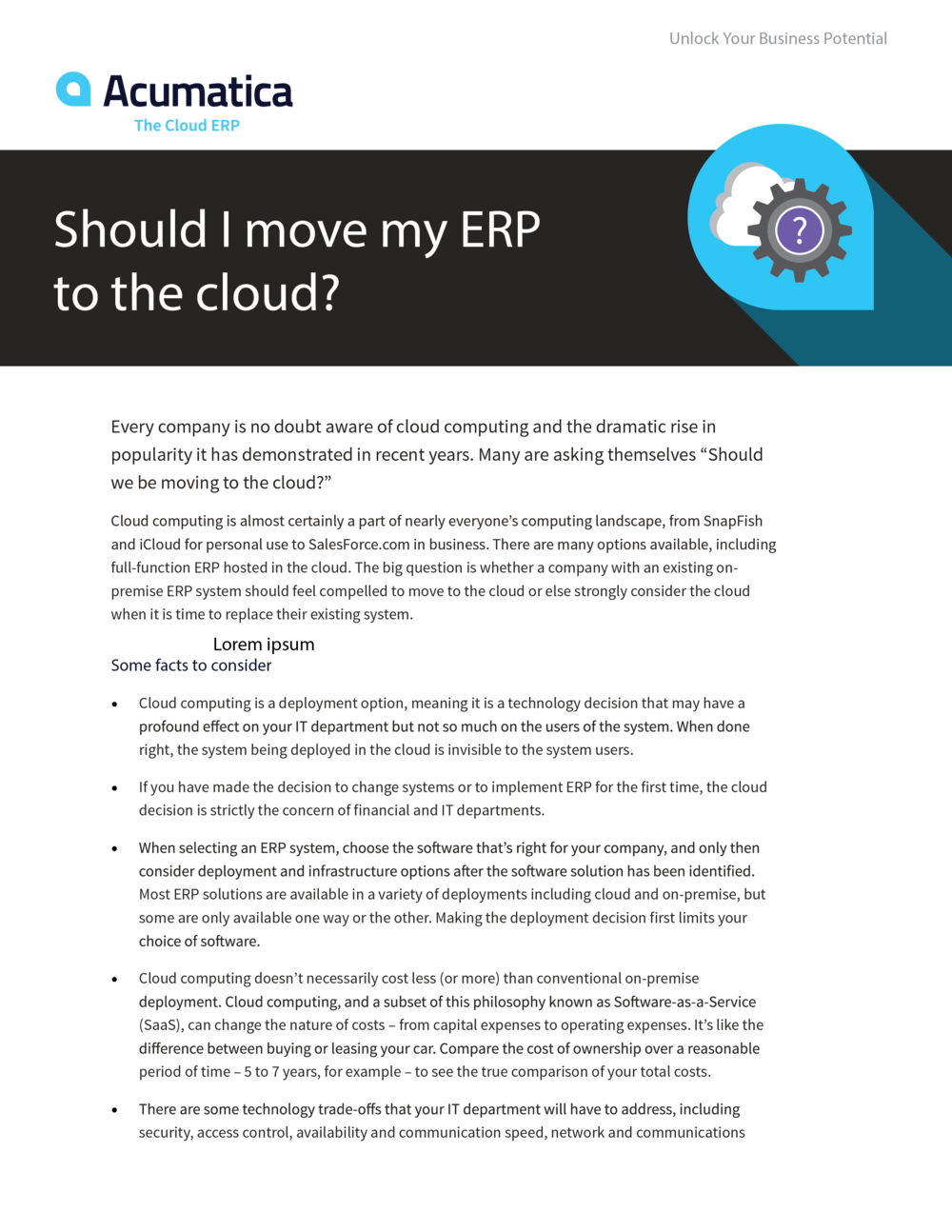 Should I move my erp to the cloud