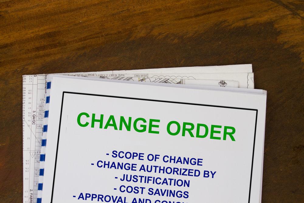 Change Order Binder