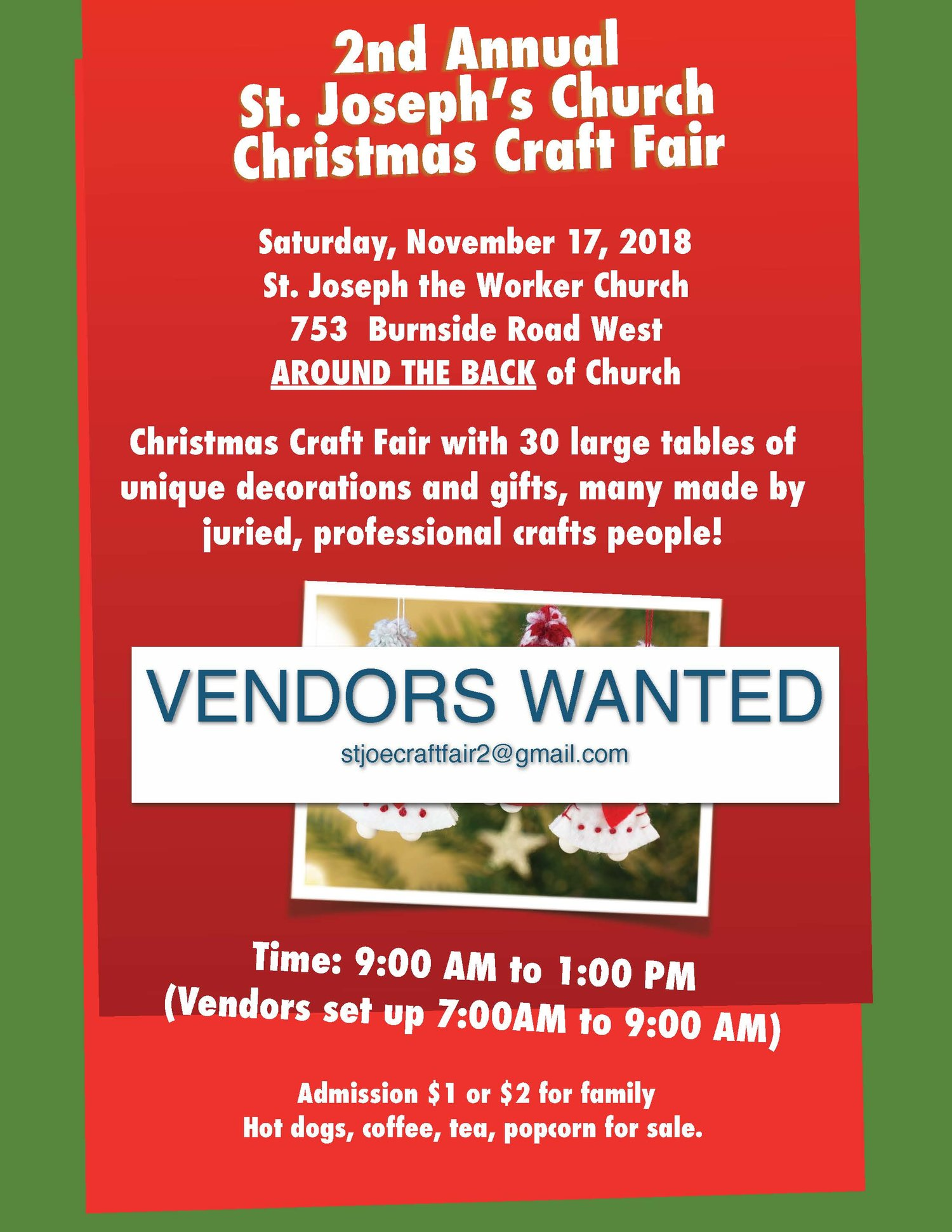Christmas Crafts To Sell At Craft Fairs.St Joseph The Worker Christmas Craft Fair Catholic