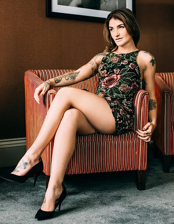 Adreena Winters   Adreena is a British Porn actress, she has a toned and tattooed figure and is very open minded. She is well educated and can provide the perfect balance of PSE and GFE. Think naught girlfriend that will let you try all the kinky things you always dreamed of doing!