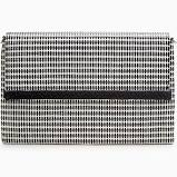 City Slim Clutch Crosshatch Raffia $49