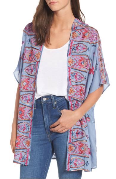 Socialite Embroidered Kimono  $49