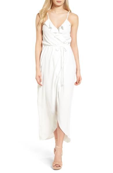 Everly Ruffle Wrap Maxi Dress $59
