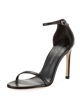 Stuart Weitzman Nudistsong 90mm Minimalist Leather Sandal $398