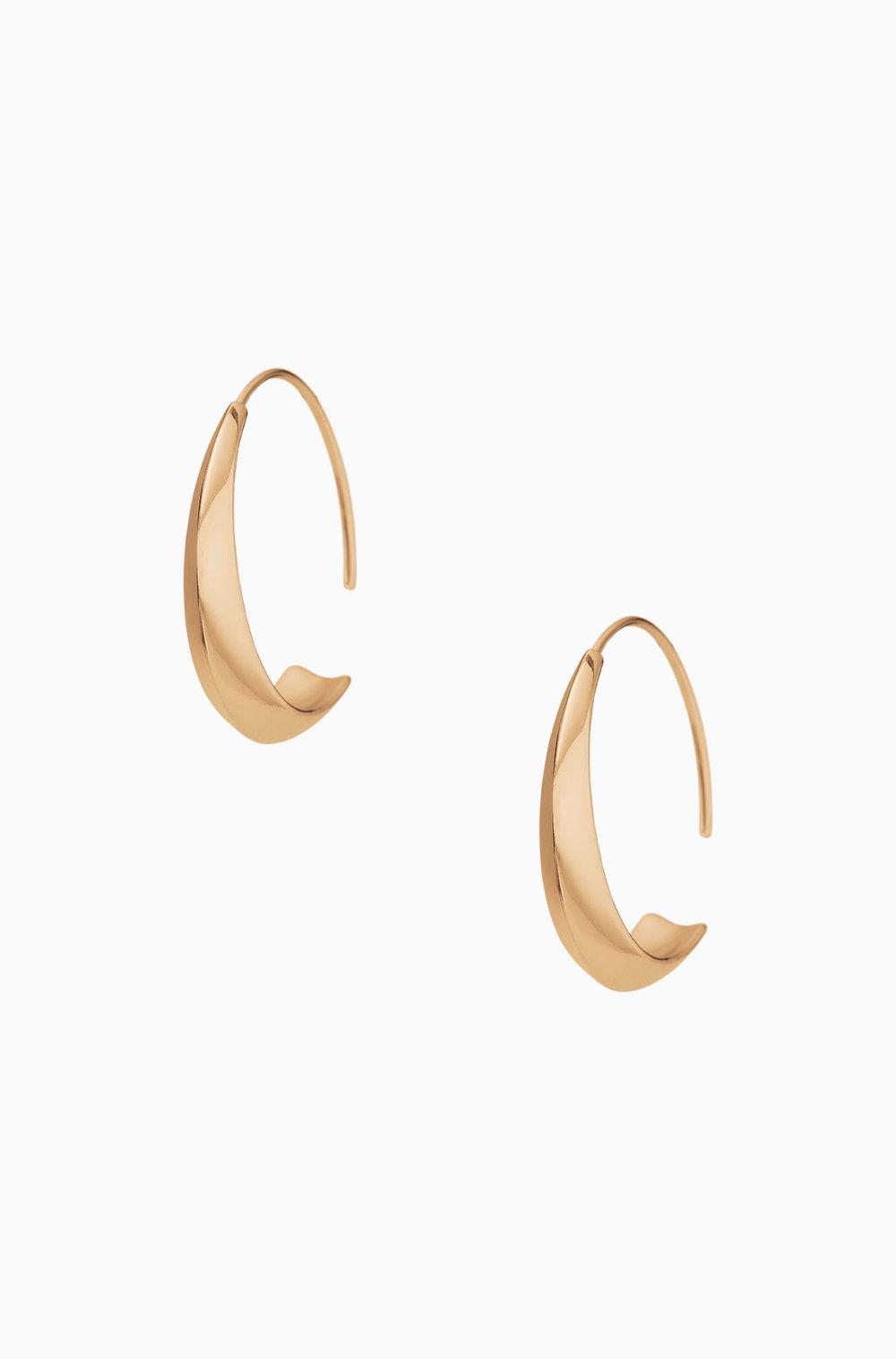 Dome Hoop Earrings $39