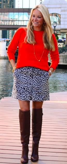 Tyler Boe Leopard Skirt $142