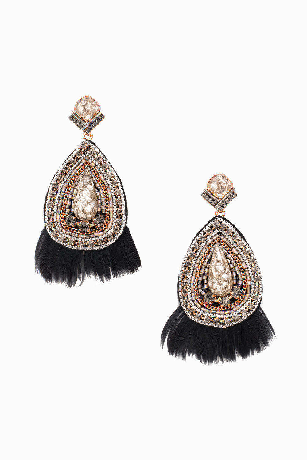 Constantine Feather Earrings $59