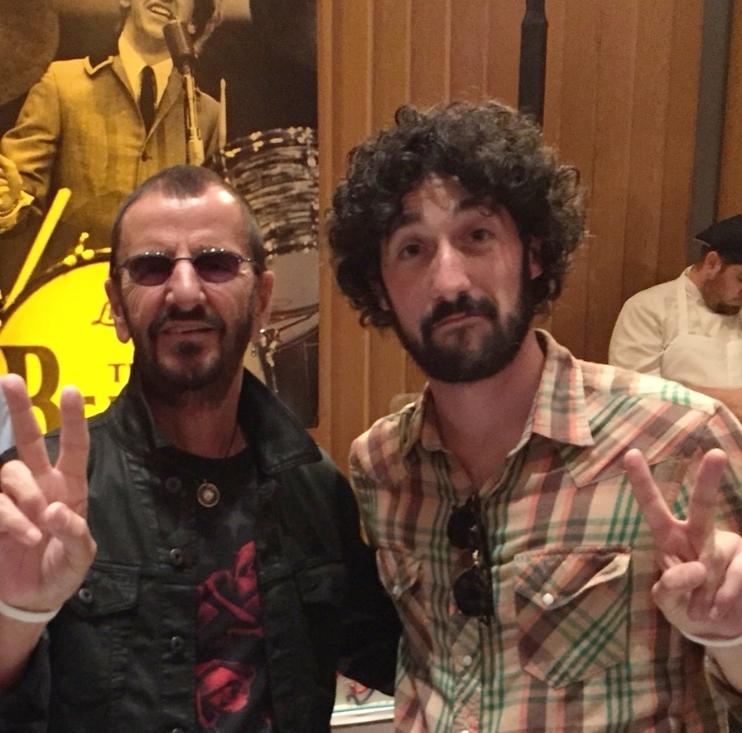 With Ringo Starr, 2015