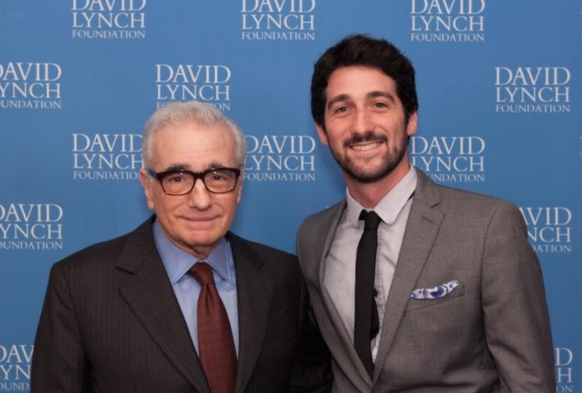 With Martin Scorsese, 2015