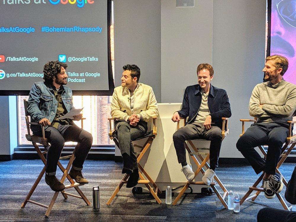 Interviewing the cast of Bohemian Rhapsody, 2018 (Rami Malek, Joe Mazzello, Gwilym Lee)