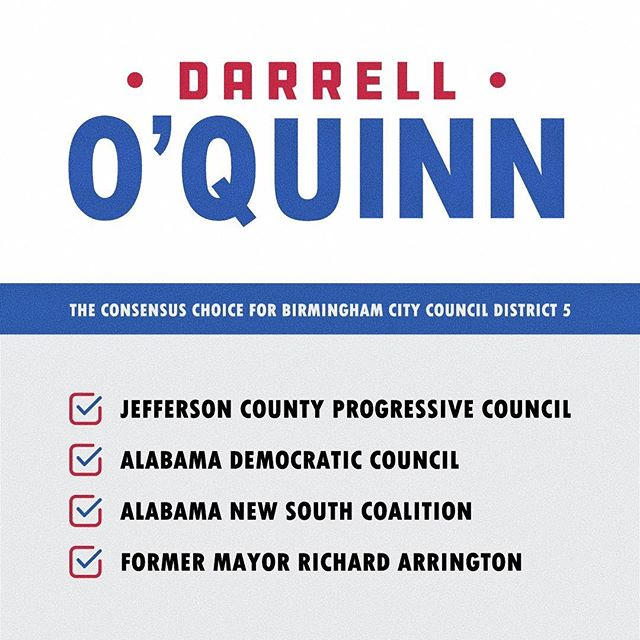 Representation for the ENTIRE city! ✅ Vote O'QUINN, City Council, District 5 on October 3! #VoteDOQ #BirminghamCityCouncil #District5