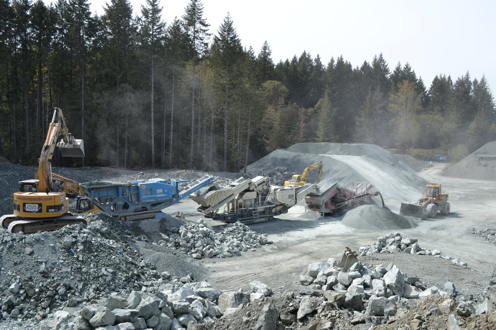Aggregate Processing at Our Quarry.JPG