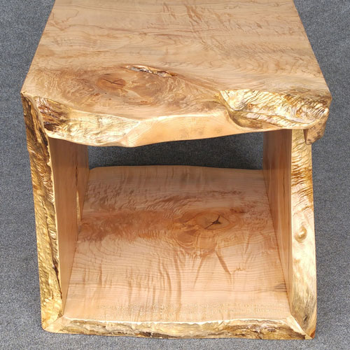 Live edge waterfall table