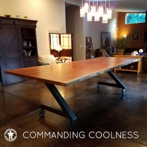 Rustic-industrial-table
