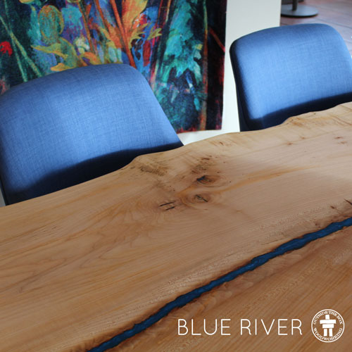 Slab river dining table