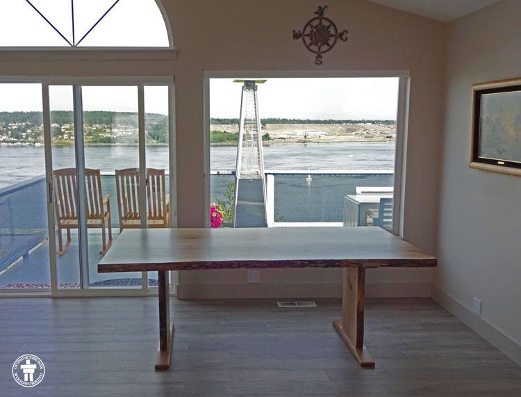 Slab dining room table
