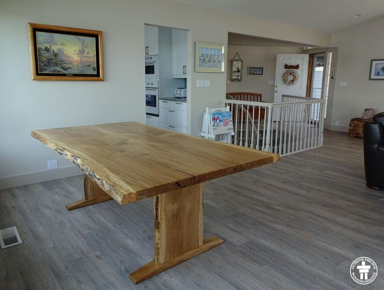 Gig Harbor custom Fox Island table