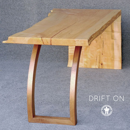 Modern live edge, waterfall edge desk or dining table