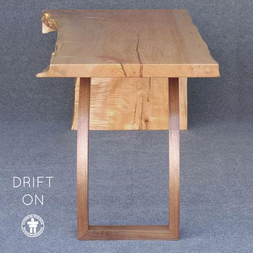 Modern custom slab table with live edge