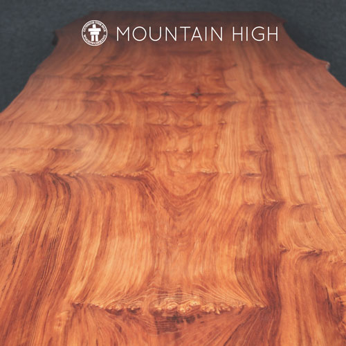 Mountain style rustic dining table