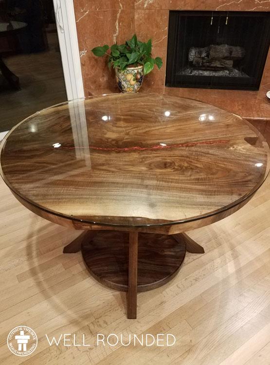 Custom solid wood table