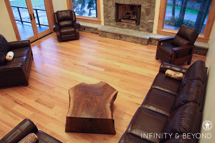 Lodge decor wood coffee table