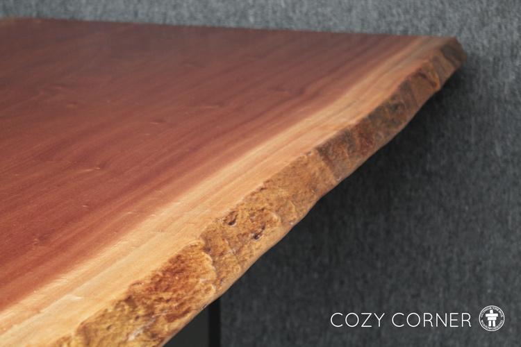 Natural edge slab table