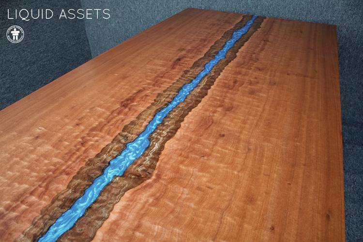 Epoxy resin live edge table