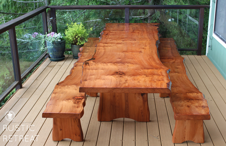 Pacific NW live edge table